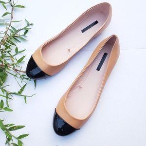 NWOT Zara Size 9 Colorblock Ballet Flats